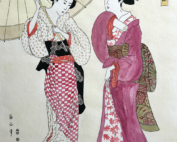 Beautiful women van Kikugawa Eizan