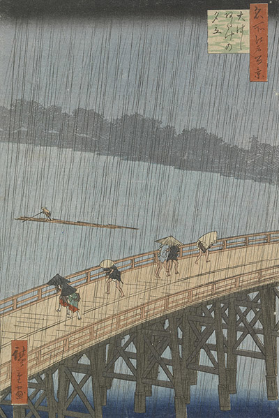 Sudden shower over Atake van Hiroshige